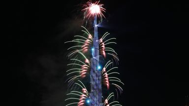 Burj Khalifa lit up to celebrate Rangers title win