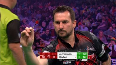 Clayton hits back with 127 checkout