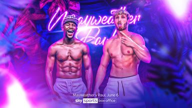 Mayweather v Logan Paul live on Sky Sports