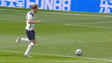 Kane and Alli both hit the post (54)