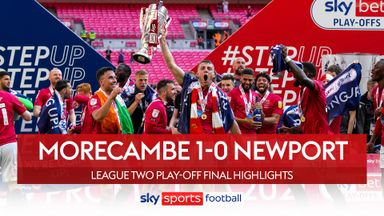 Morecambe promoted after penalty drama