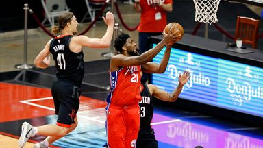 Embiid stars as Sixers take down Rockets