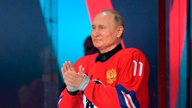 Putin scores eight goals in all-star hockey game