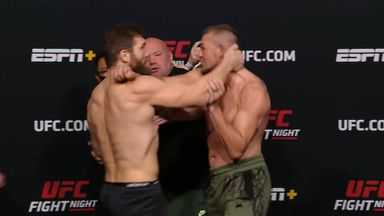 Tempers flare during UFC face-off