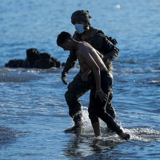 Military intercept migrants as 6,000 including children swim from Morocco to Spanish enclave