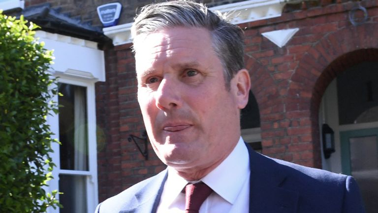 Labour leader Sir Keir Starmer leaving his north London home following the result in the Hartlepool parliamentary by-election. Picture date: Friday May 7, 2021.