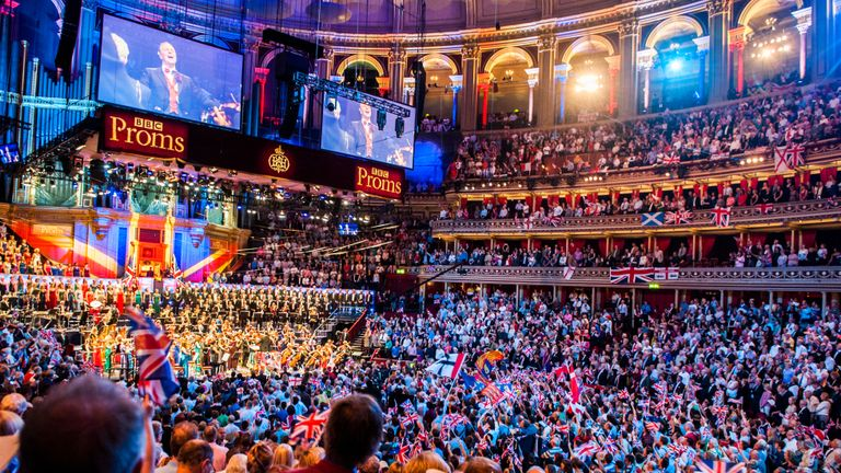 The Last Night of the BBC Proms at the Royal Albert Hall, London.