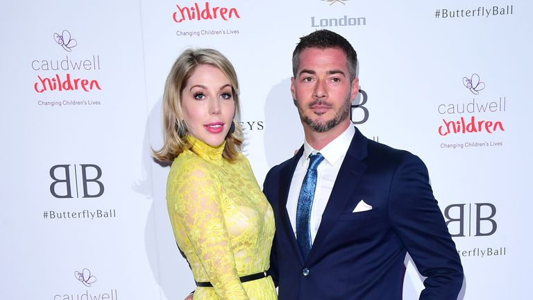 Katherine Ryan and Bobby Kootstra attending the Butterfly Ball Charity fundraiser held at the Grosvenor House Hotel London.