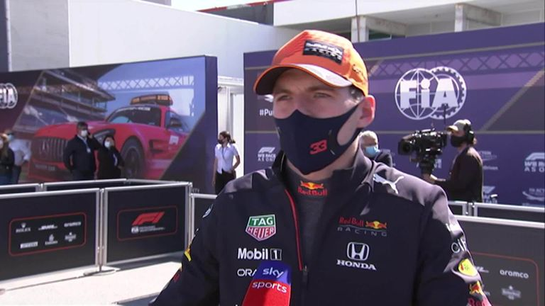 Red Bull's Max Verstappen says he had a tricky qualifying session in Portimao