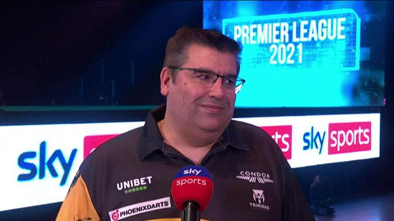 Jose de Sousa says he is totally focused on darts after he beat Gary Anderson