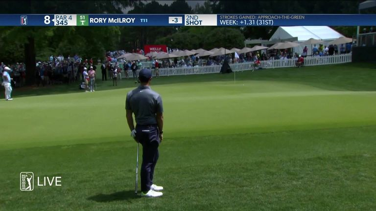 Wells Fargo Championship: Rory McIlroy moves within two shots of the halfway