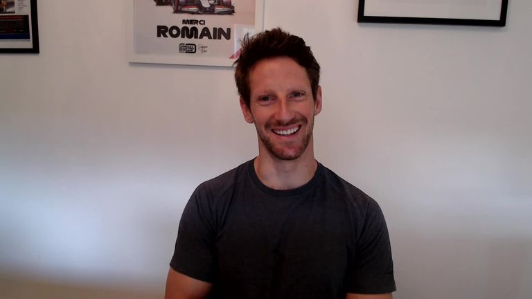 Romain Grosjean speaks to Sky Sports News about the emotions around his return to an F1 cockpit next month with Mercedes and the latest on his injuries.