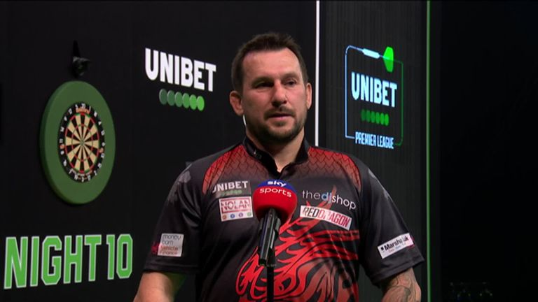 Jonny Clayton was pleased to get the better of James Wade on Night 10 of the Premier League after 'The Machine' beat him earlier in the tournament