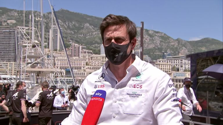 Mercedes boss Toto Wolff speaks to Sky Sports F1's Ted Kravitz at the Monaco GP about the team's car upgrade plan for the rest of 2021