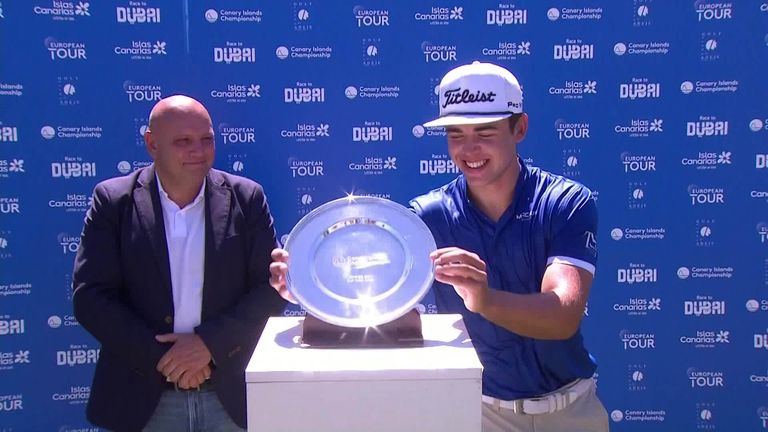 The best shots from the final round of the Canary Islands Swing in Tenerife, where Garrick Higgo fired a hole-in-one on his way to his second win of the Swing.