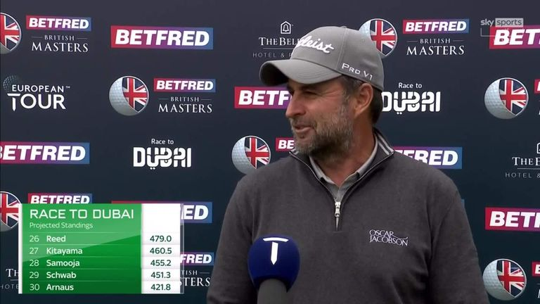 Richard Bland is hoping to finally win his first European Tour title at the 478th attempt after moving into a share of the halfway lead at the Betfred British Masters