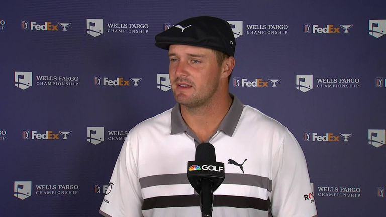 Bryson DeChambeau explains a bizarre 24 hours after firing a third-round 68 at the Wells Fargo Championship, just a few hours after he had flown home thinking he had missed the cut!