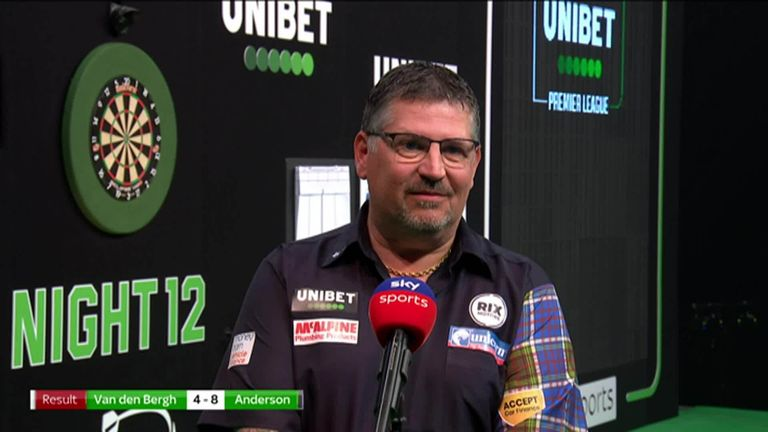 It was vintage Gary Anderson as he produced a brilliant performance to beat Dimitri Van den Bergh.