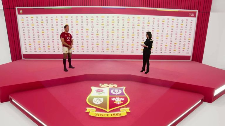 Alun Wyn Jones is revealed as the British and Irish Lions captain for the tour of South Africa via hologram