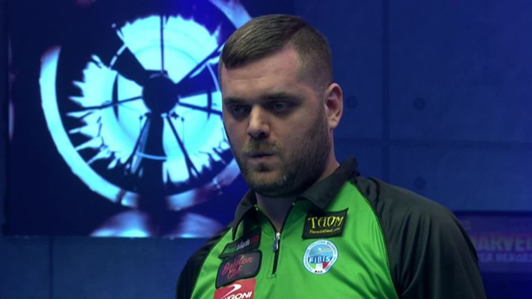 Italy's Daniele Corrieri nailed the golden break against Spain in the World Cup of Pool
