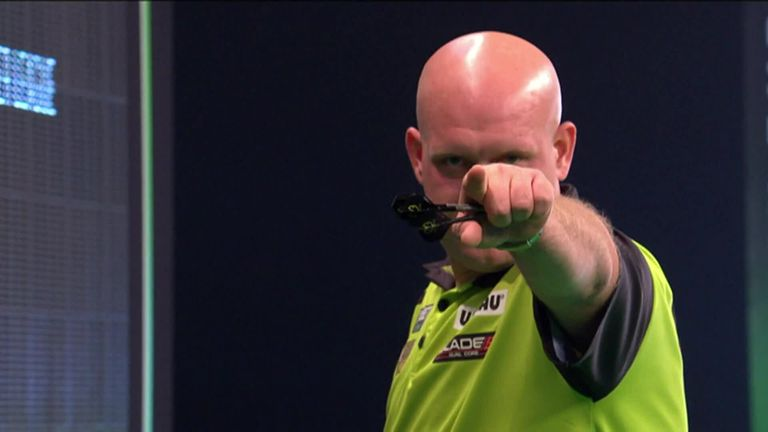 The best of the action from Night 12 of the Premier League Darts at the Marshall Arena.