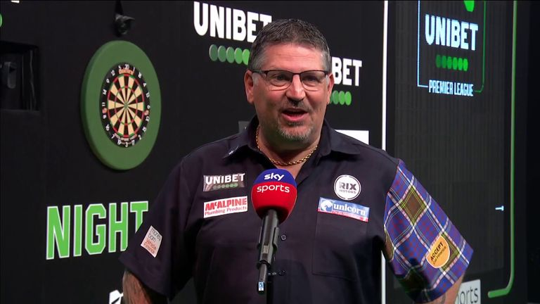 Gary Anderson was pleased with his performance after a comfortable win over Peter Wright in the Premier League Darts