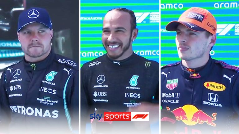 Lewis Hamilton, Max Verstappen, and Valtteri Bottas took the top three spots in qualifying at Barcelona