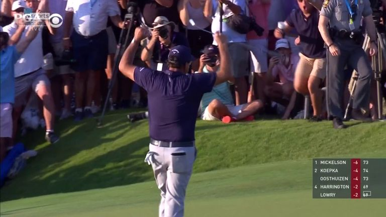 Relive the moment Phil Mickelson entered golf's record books by becoming the oldest major winner in history with a two-shot victory at the PGA Championship