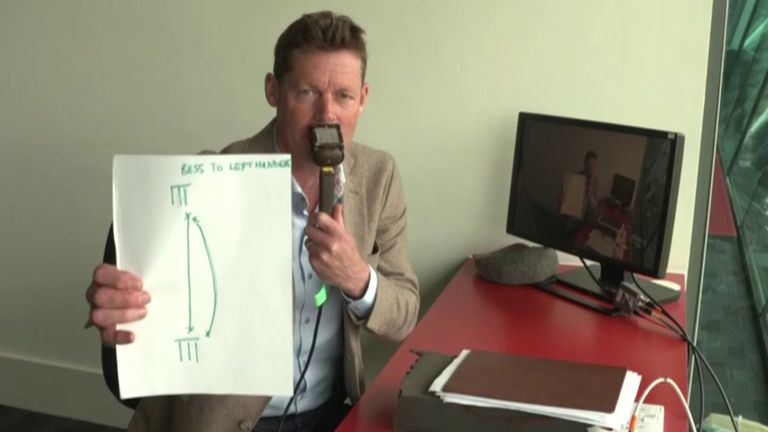 Nick Knight uses pen and paper to explain how Yorkshire and England off-spinner Dom Bess can become more of a threat against left-handers.