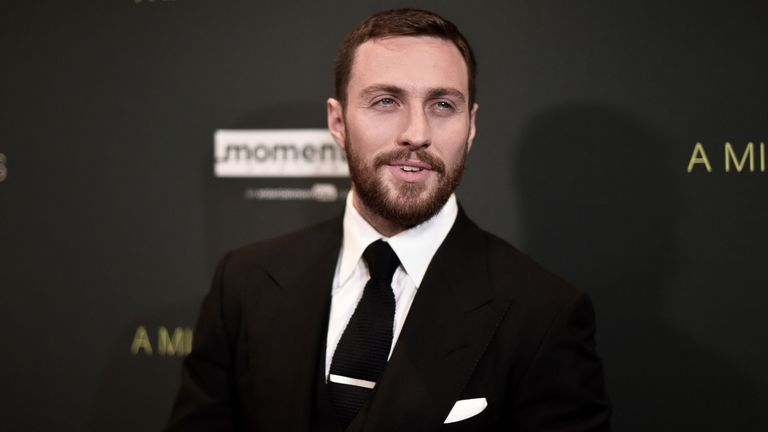 """Aaron Taylor-Johnson attends a special screening of """"A Million Little Pieces"""" at the London Hotel on Wednesday, Dec. 4, 2019, in Los Angeles. (Photo by Richard Shotwell/Invision/AP)"""