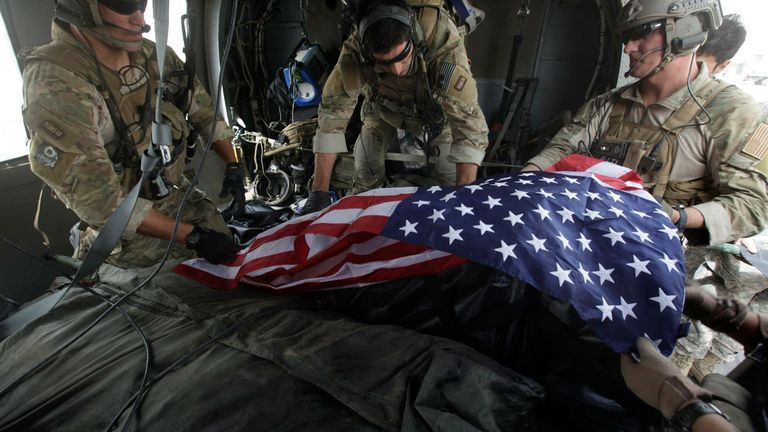The human cost of the Afghanistan war has been the lost of thousands of US and NATO troops. Pic: AP