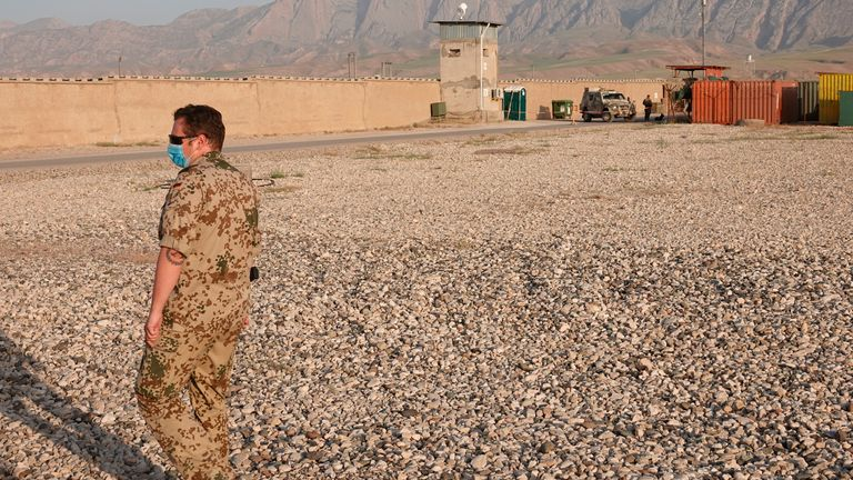 Some 2,500-3,500 US and about 7,000 NATO soldiers remain in Afghanistan. Pic: AP