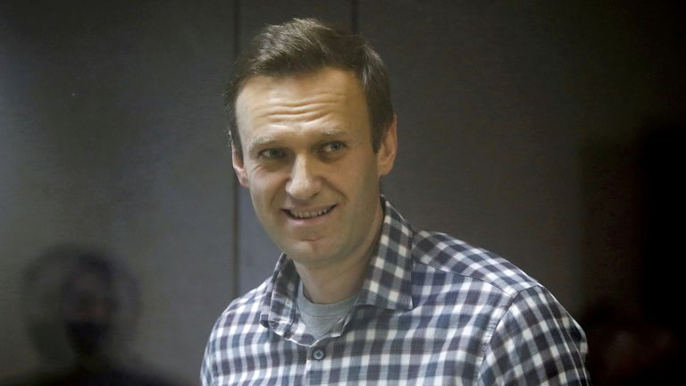 Mr Navalny at a court hearing earlier this year