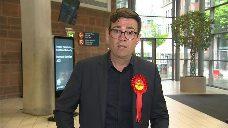 Andy Burnham refused to rule out running for Labour leadership in the future, after he was re-elected as mayor of Greater Manchester by a landslide.