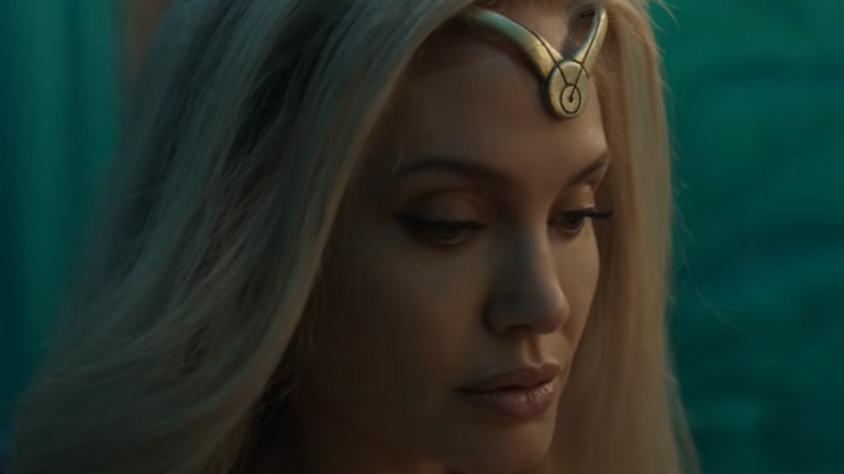 Jolie will play Thena, who can wield weapons from cosmic energy. Pic: Marvel Studios