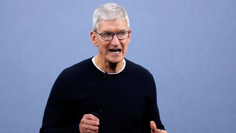 Apple chief executive Tim Cook. File pic