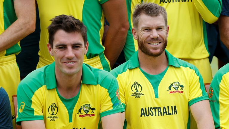 Australia's Pat Cummins (L) and David Warner. Pic: Action Images via Reuters