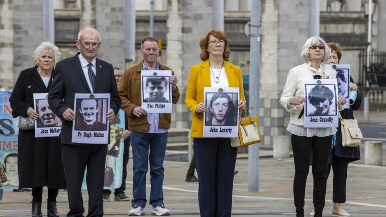Families of people killed at Ballymurphy outside the inquest