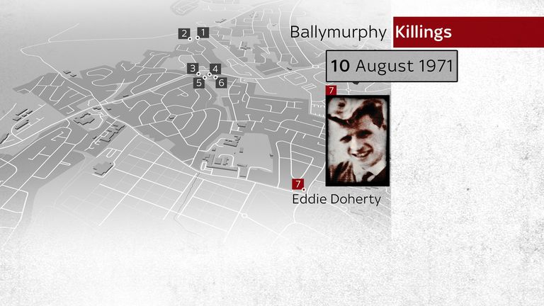 Where Eddie Doherty was killed