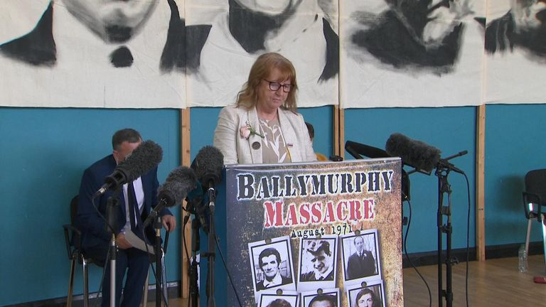 Briege Voyle, whose mother was killed at Ballymurphy