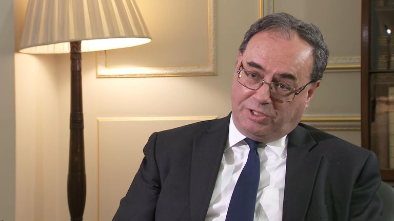 The governor of the Bank of England , Andrew Bailey, spoke to Ed Conway, Sky's economics editor.