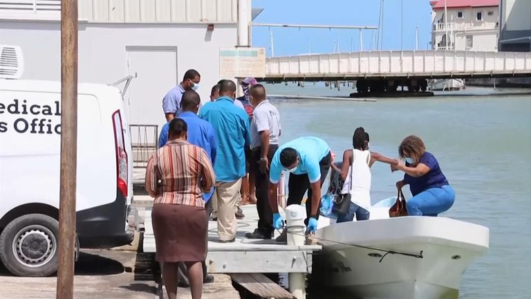 The officer's body was found early on Friday. Pic: AP/7 News Belize