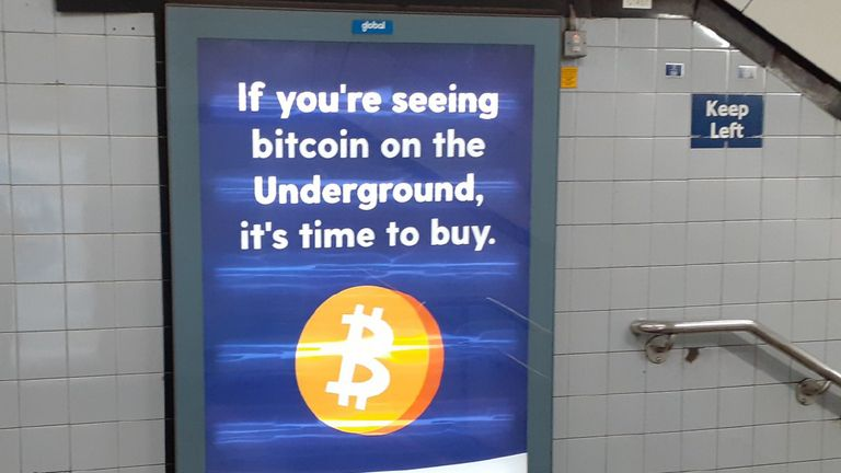 Undated handout photo issued by the Advertising Standards Authority (ASA) of a poster for Luno, a cryptocurrency exchange service