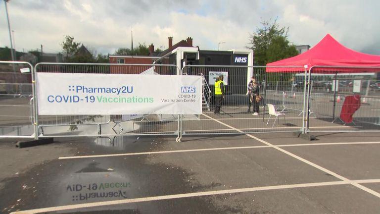 Blackburn mobile vaccination centre