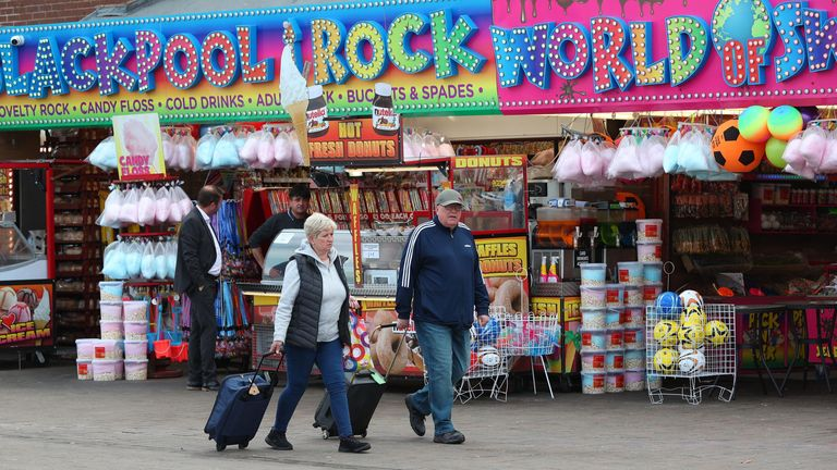 Shops have opened again in Blackpool, one of the UK's most famous tourist destinations