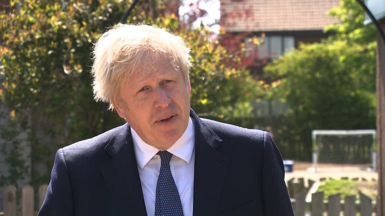 Boris Johnson said the COVID-19 variant 'has been spreading' and the UK wants to 'grip it'.