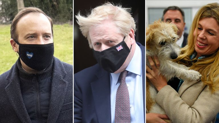 Matt Hancock, Boris Johnson, Carrie Symonds and even Dilyn the dog have been the focus of numerous explosive claims from Dominic Cummings