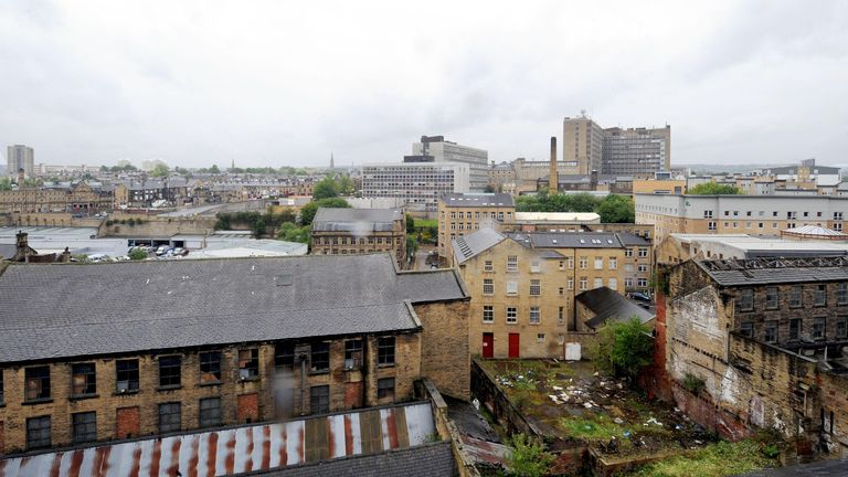Most of the crimes are alleged to have happened in Calderdale, and some in Bradford, pictured
