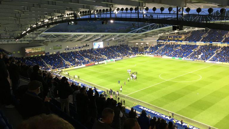 Brighton's Amex hosted a joyous atmosphere as the home side beat Man City