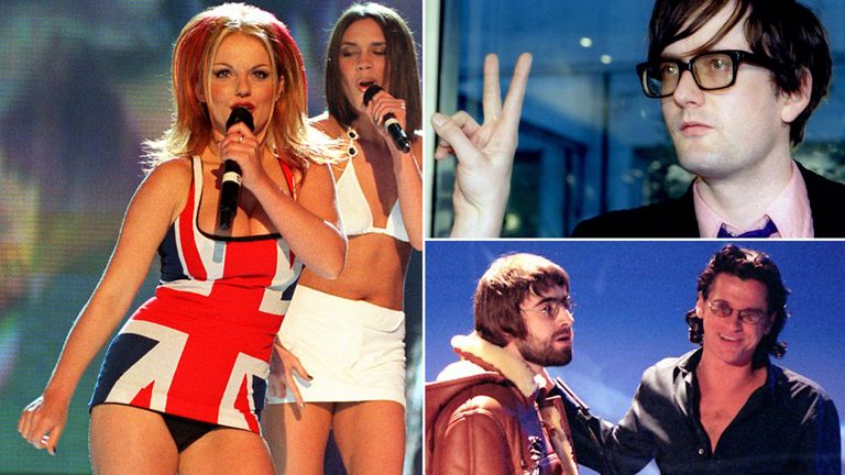 Geri Halliwell, Jarvis Cocker, Liam Gallagher